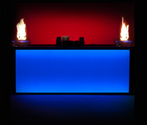 back lit bar